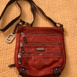 Tignanello Pumpkin Leather crossbody bag